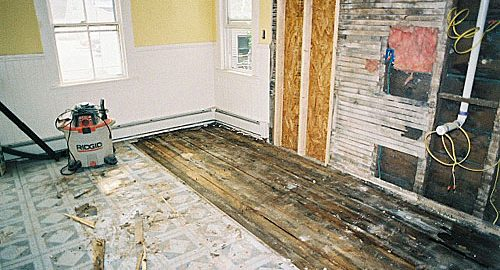 The original floor, before removal